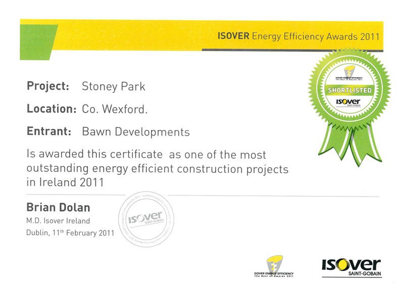 bawn developments isover award